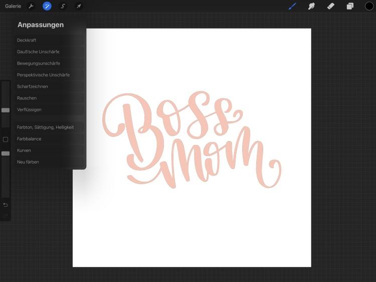 Schritt für Schritt Anleitung für ein 3D-lettering mit Procreate
