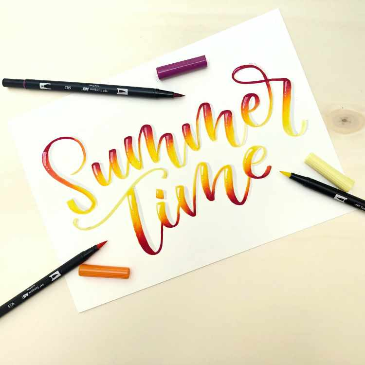 Lettering mit Blending Effekt: Summer Time