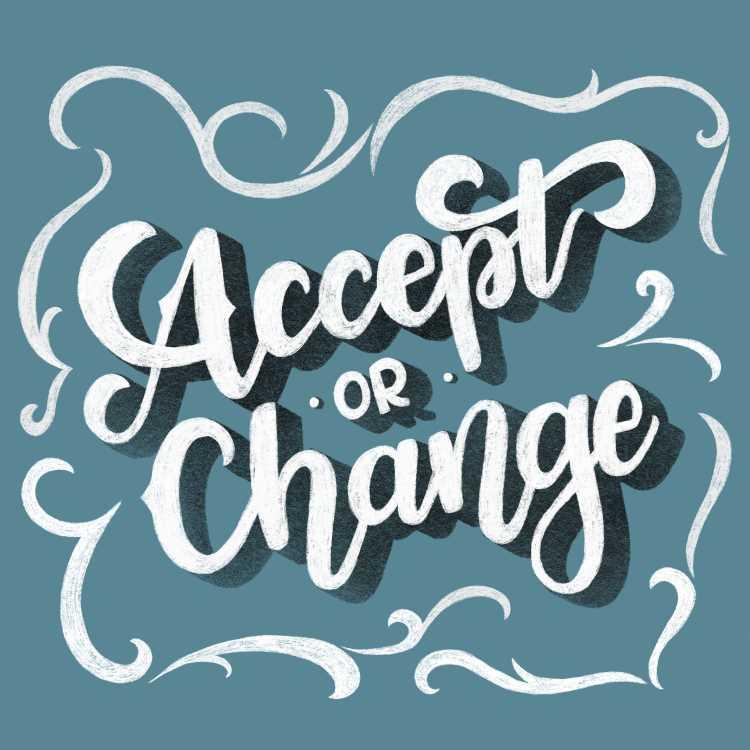 Handlettering im Chalklettering Stil: Accept or change
