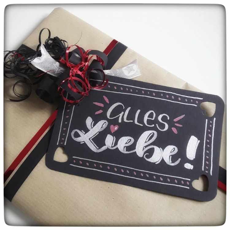 alles Liebe - Geschenkanhänger mit Lettering