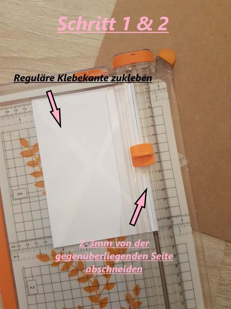 Briefumschläge zuschneiden für eine DIY Sammelmappe