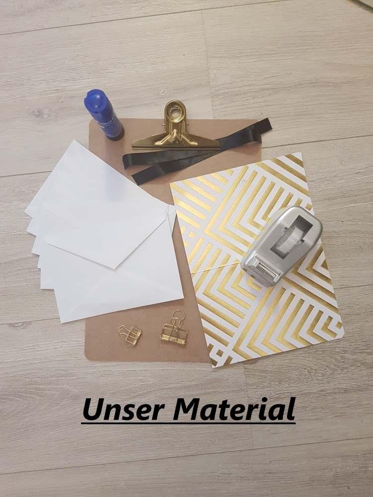 Material für eine DIY Sammelmappe
