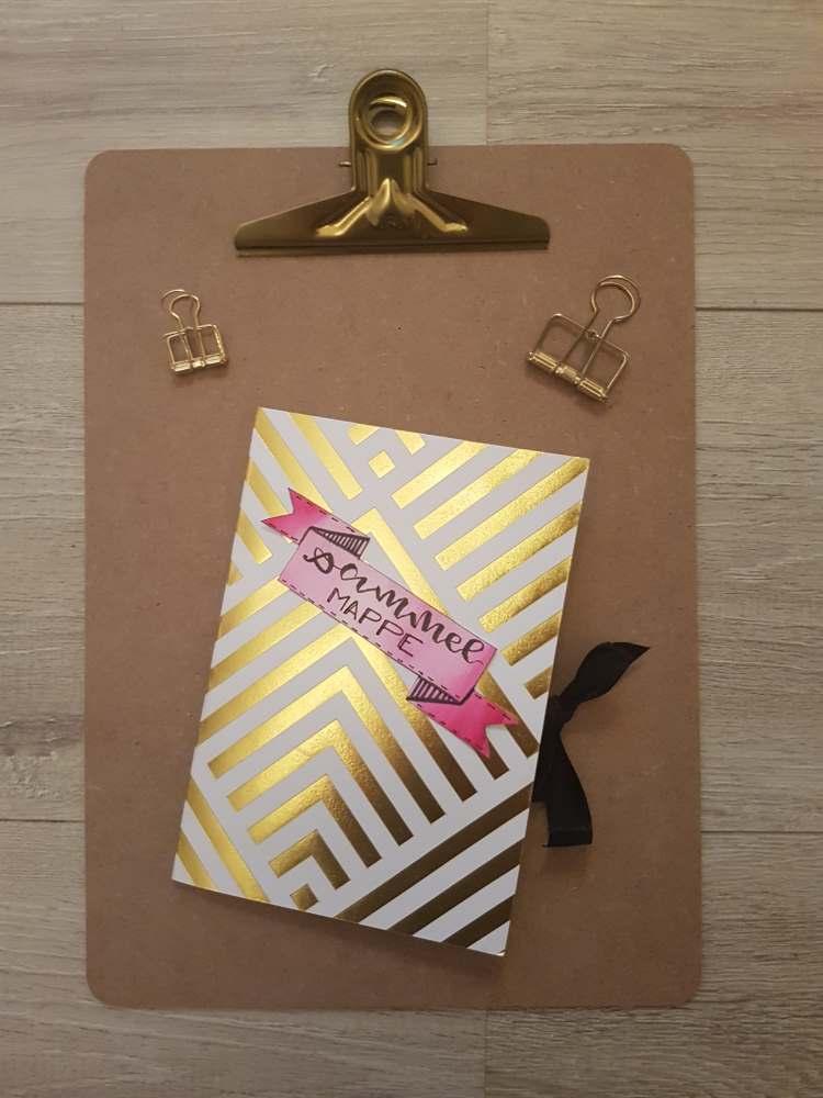 DIY Sammelmappe - selbstgemachte Mappe aus Briefumschlägen für deine Letterings oder ähnliches