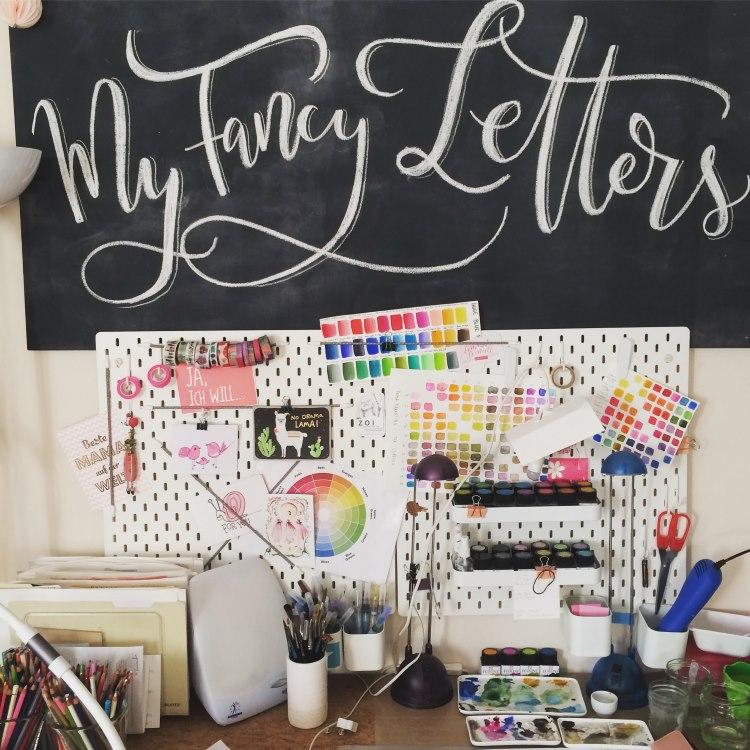 my fancy letters - Chalk Lettering am Schreibtisch