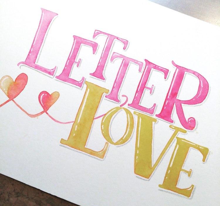 Letter Love - buntes Handlettering mit Serifenschrift