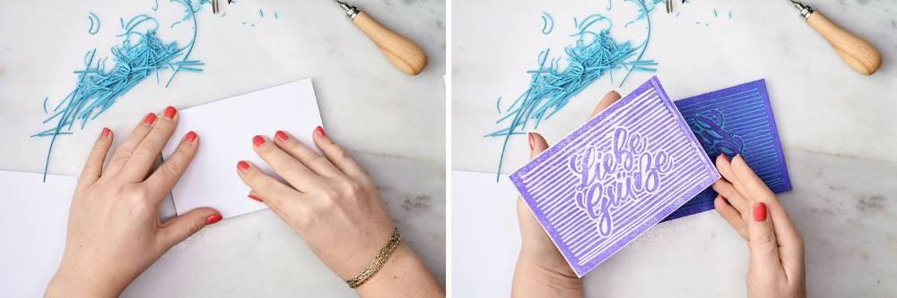 gestalte deinen eigenen Stempel aus einem Lettering mit Linolschnitt