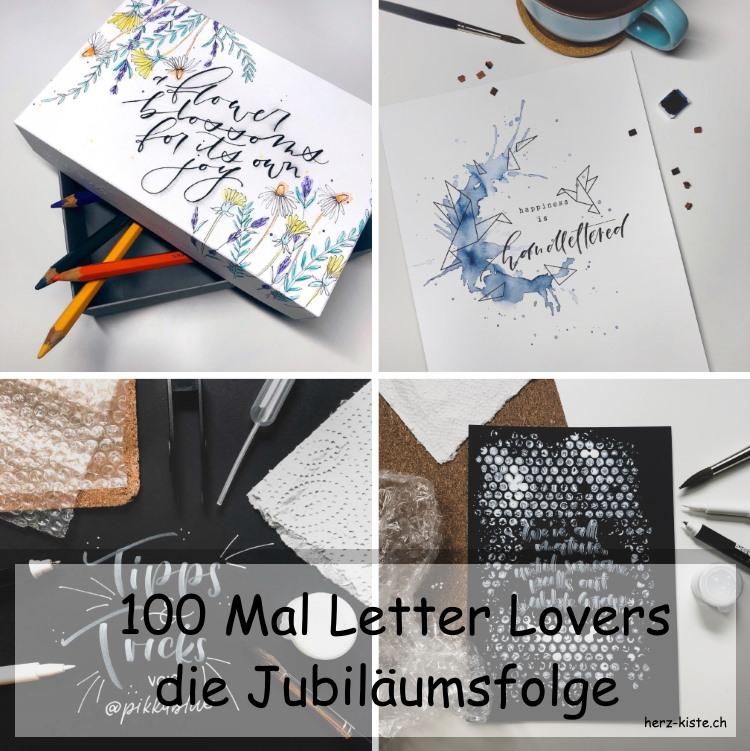 Letter Lovers: die Jubiläumsfolge zum 100.sten Interview rund ums Handlettering mit Bildern von pikkablue