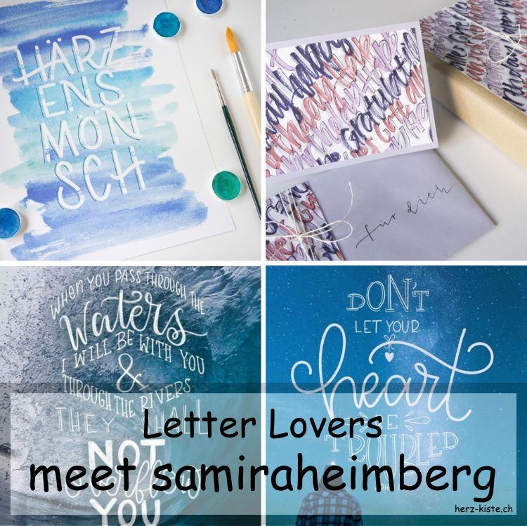 Letter Lovers: samiraheimberg zu Gast im Letterin Interview mit verschiedenen Bildern als Titelbildcollage