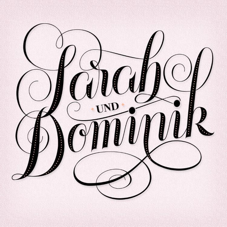 Lettering mit Namen - Sarah und Dominik