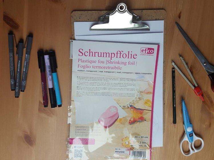 Material um Schlüsselanhänger mit Schrumpffolie selber zu machen