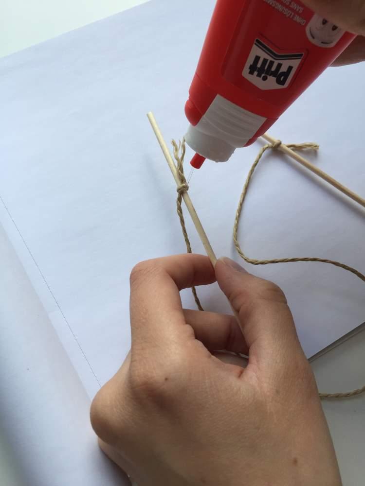 Wimpelkette basteln für einen Caketopper