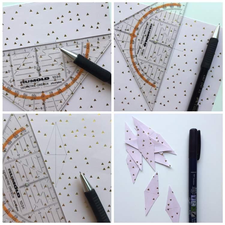 Wimpelkette zuschneiden aus speziellem Papier