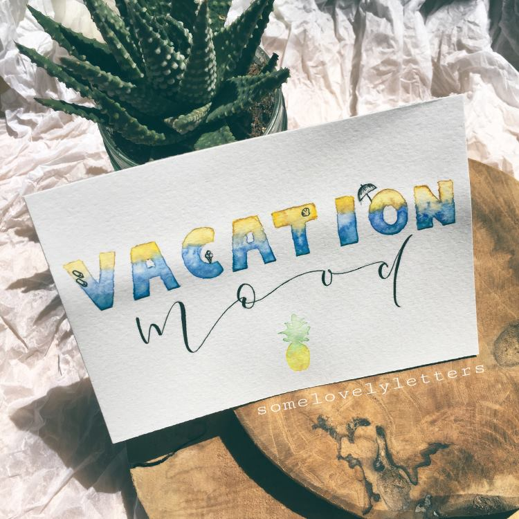 Handlettering im Beach-Style: vacation mood