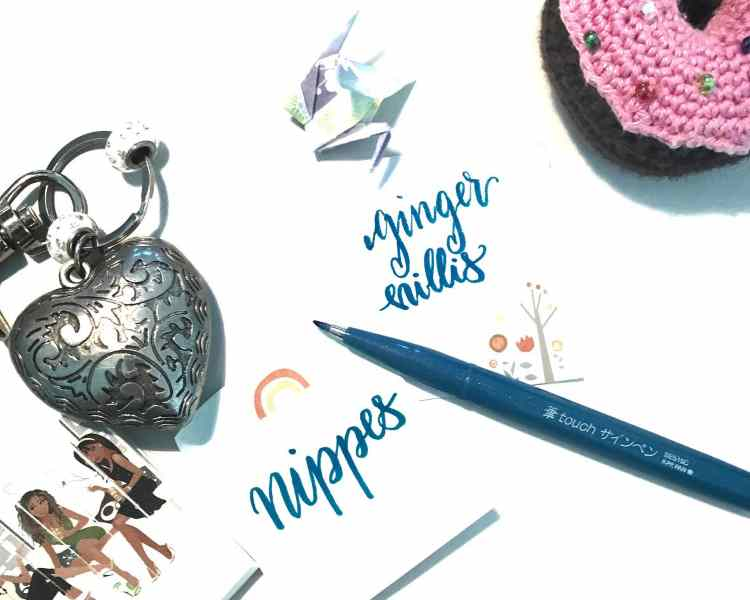 nippes - Lettering auf Stickynotes