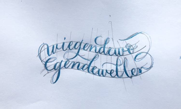 Anleitung für ein Kalligrafie Wellenbild