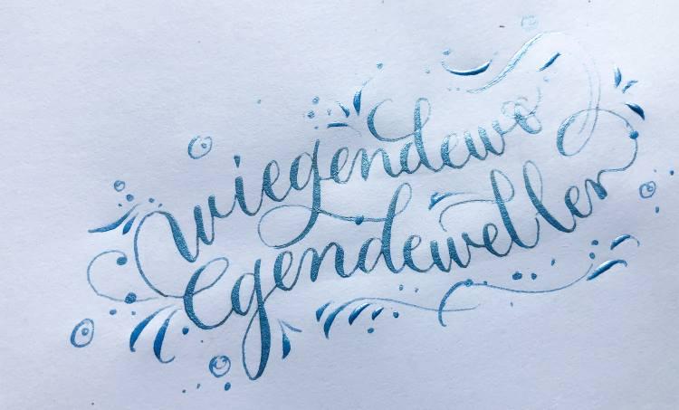 Kalligrafie Wellenbild