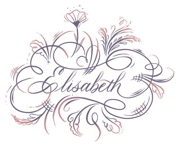 Elisabeth - Kalligrafie mit Schnörkel