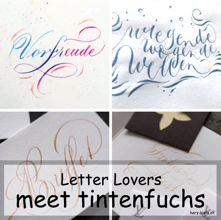 Natascha Safarik von tintenfuchs zu Gast im Interview bei den Letter Lovers übers Lettering und Klaligrafie mit verschiedenen Werken