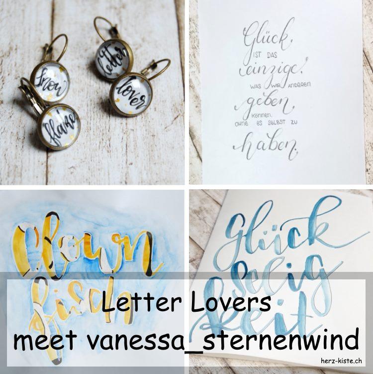 Handlettering Bilder in einer Collage zusammengestellt - vanessa_sternenwind zu Gast im Lettering Interview
