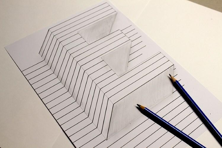 optische Illusion von einem Buchstaben gestalten - Zwischenschritt
