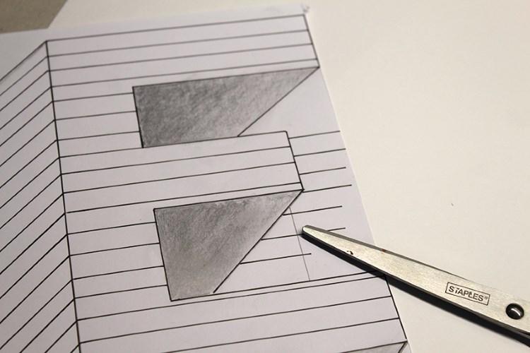 optische Illusion vom Buchstaben E - Zwischenschritt