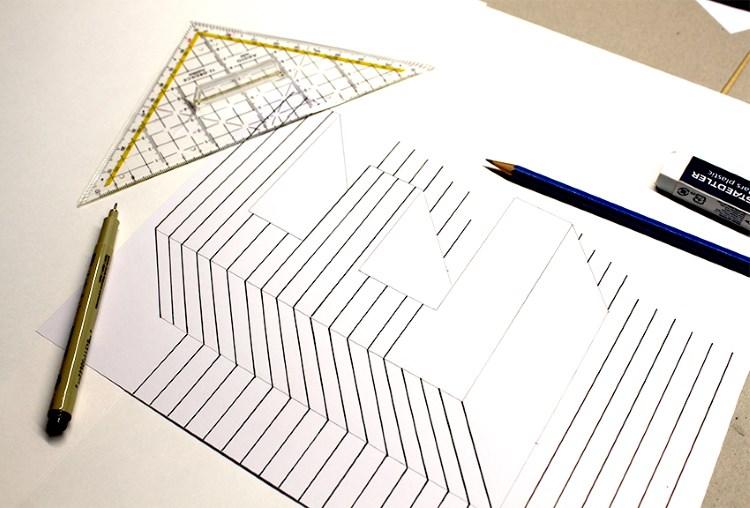 optische Illusion von einem Buchstaben lettern - Anleitung Schritt 8