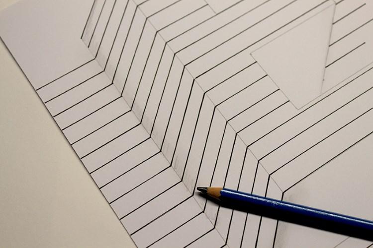 Nahaufnahme für eine optische Illusion