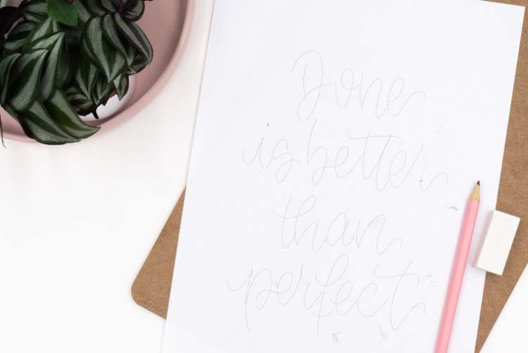 Lettering Skizze: Done is better than perfect