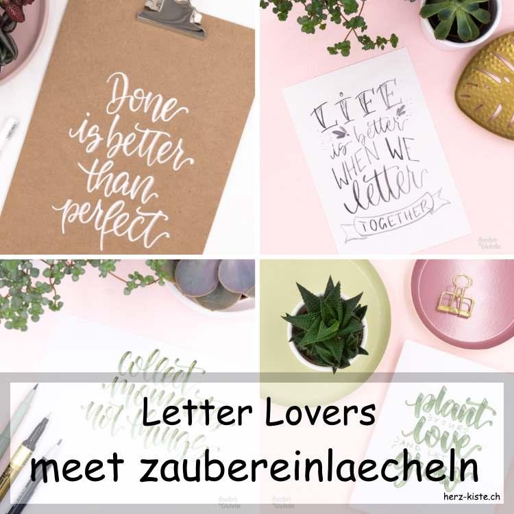 Letter Lovers: zaubereinlaecheln zu Gast im Lettering Interview mit einer Anleitung für die Beschriftung eines Klemmbretts