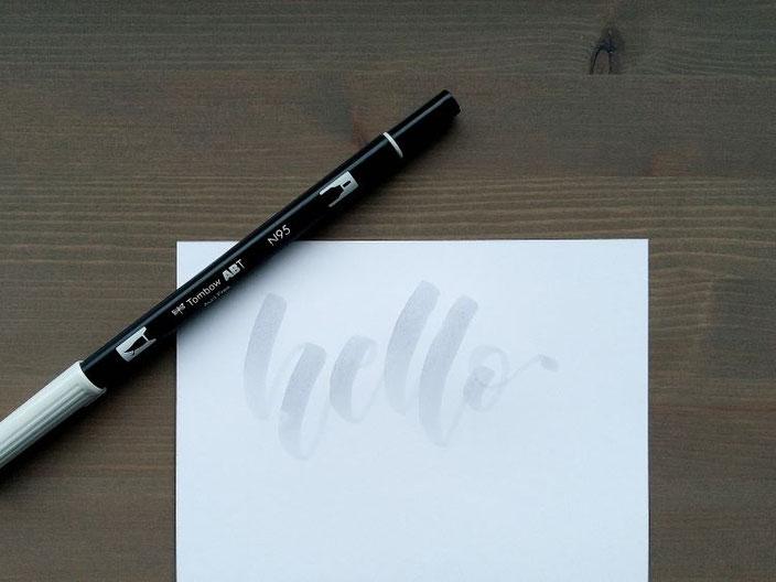 hello - Lettering vorschreiben