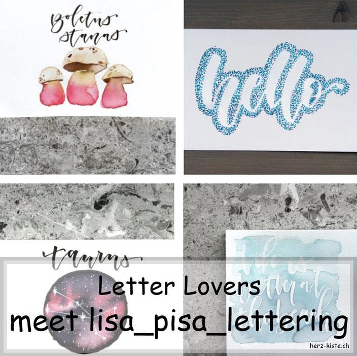 verschiedene Letterings von lisa_pisa_lettering in einer Collage