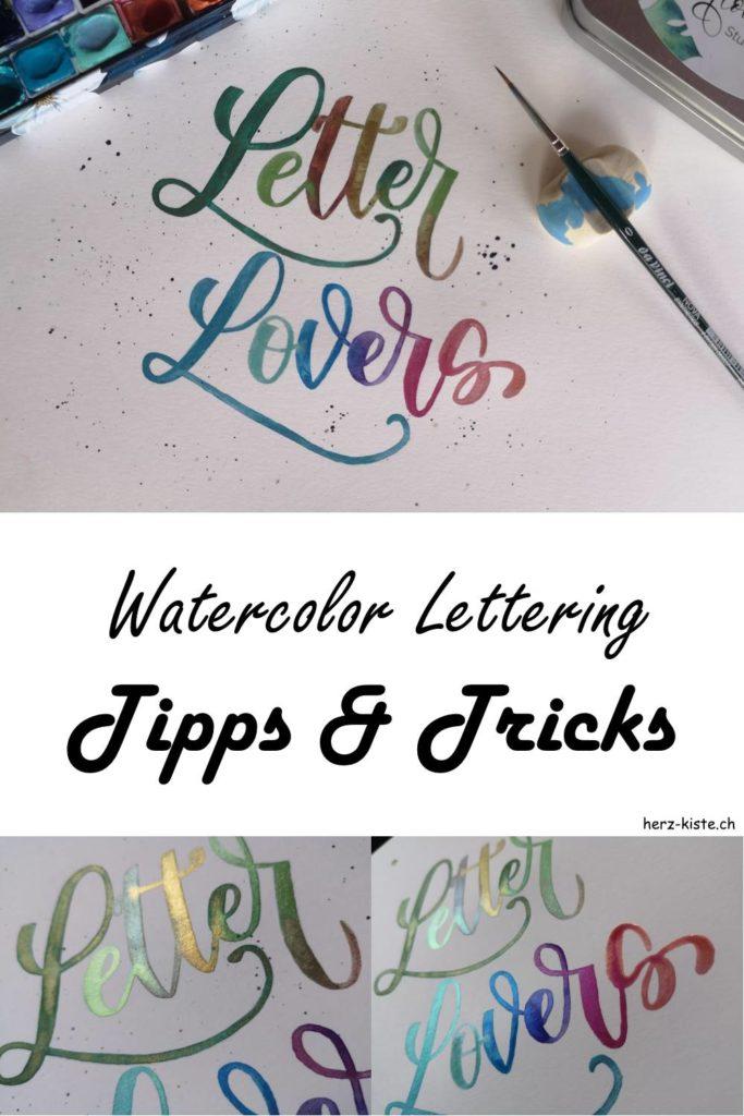 Watercolor Lettering - die besten Tipps und Tricks damit auch dein Handlettering mit Wasserfarben bestimmt gelingt