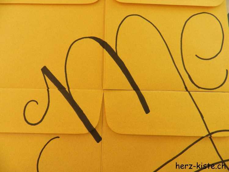 Briefumschläge für Adventskalender belettern