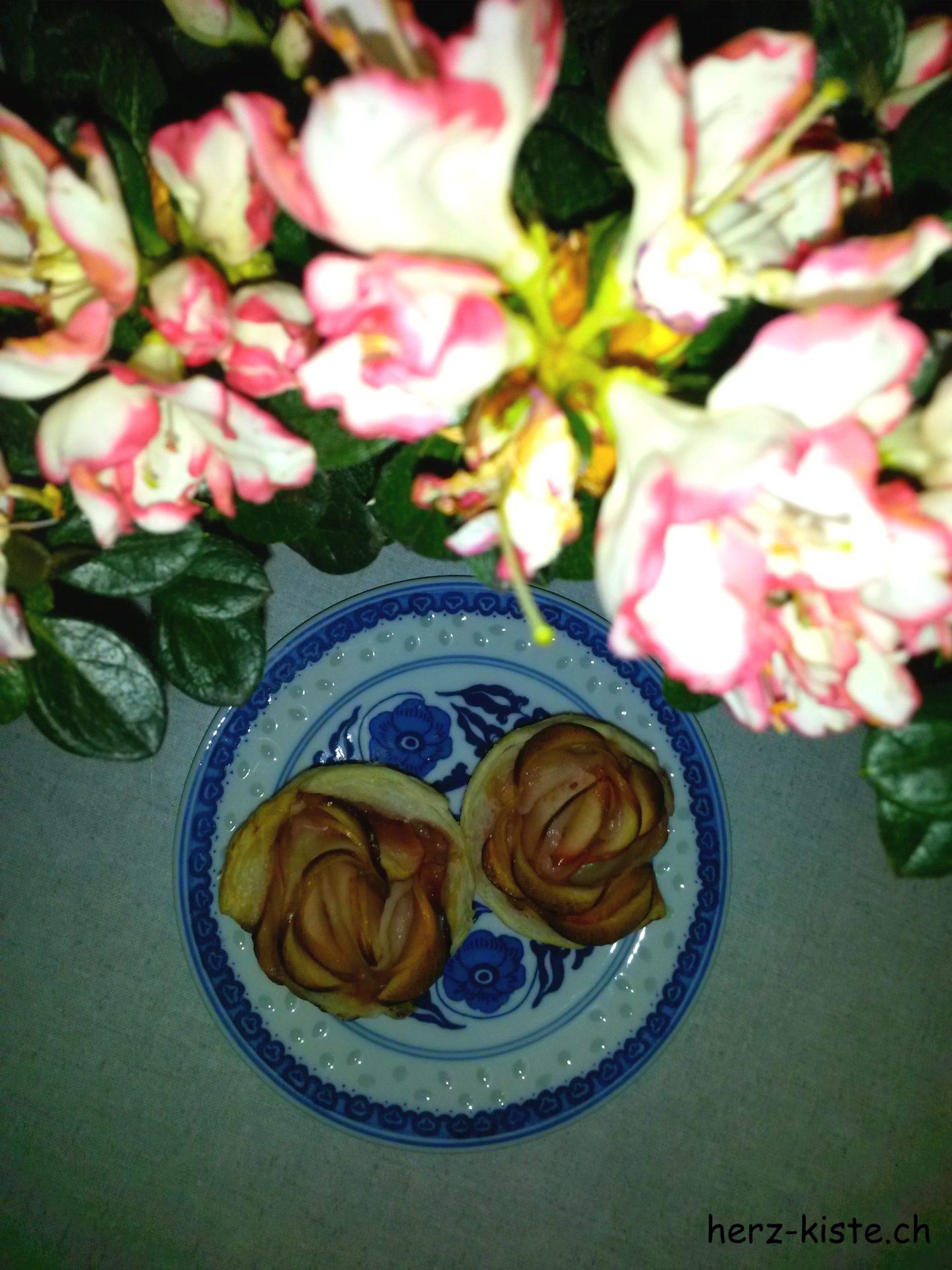 leckere Apfelrosen zum selbermachen