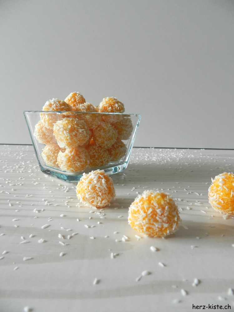 leckerer Snack für zwischendurch: Aprikosen Kokos Pralinen