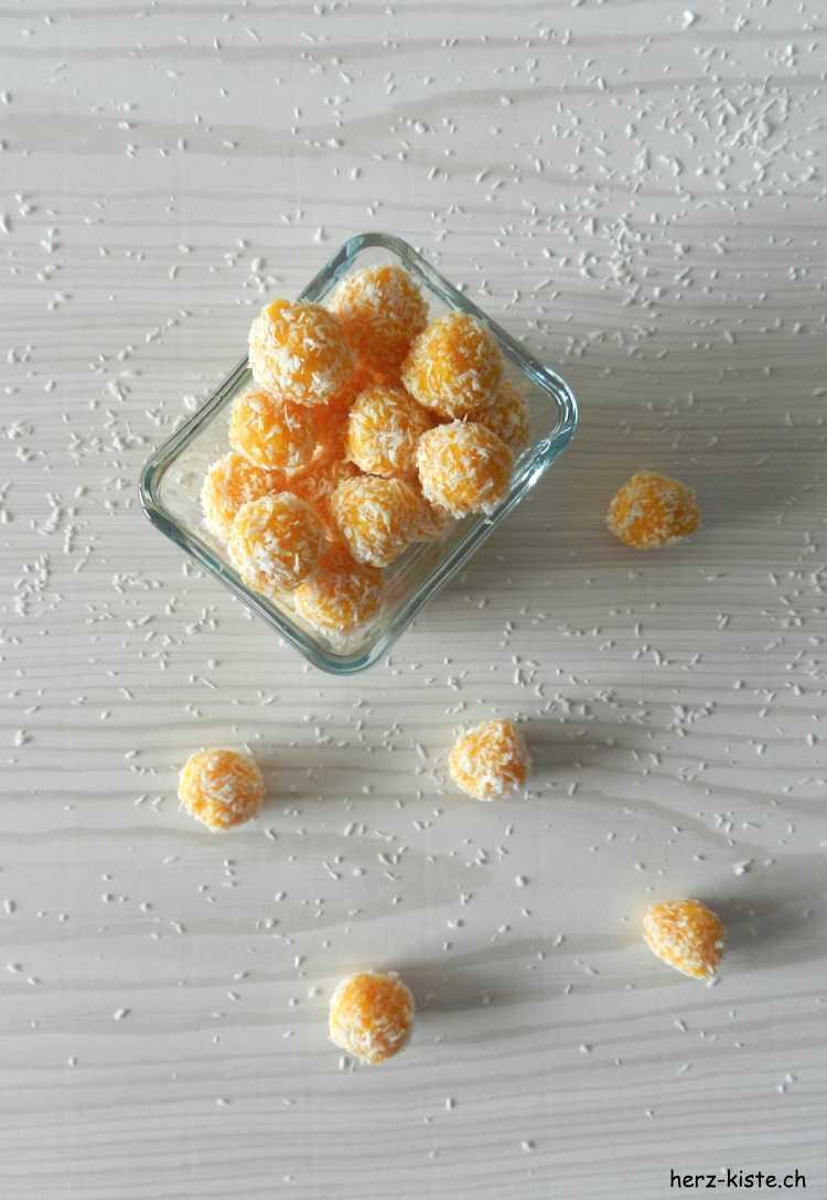 Aprikosen Kokos Pralinen einfach selber machen