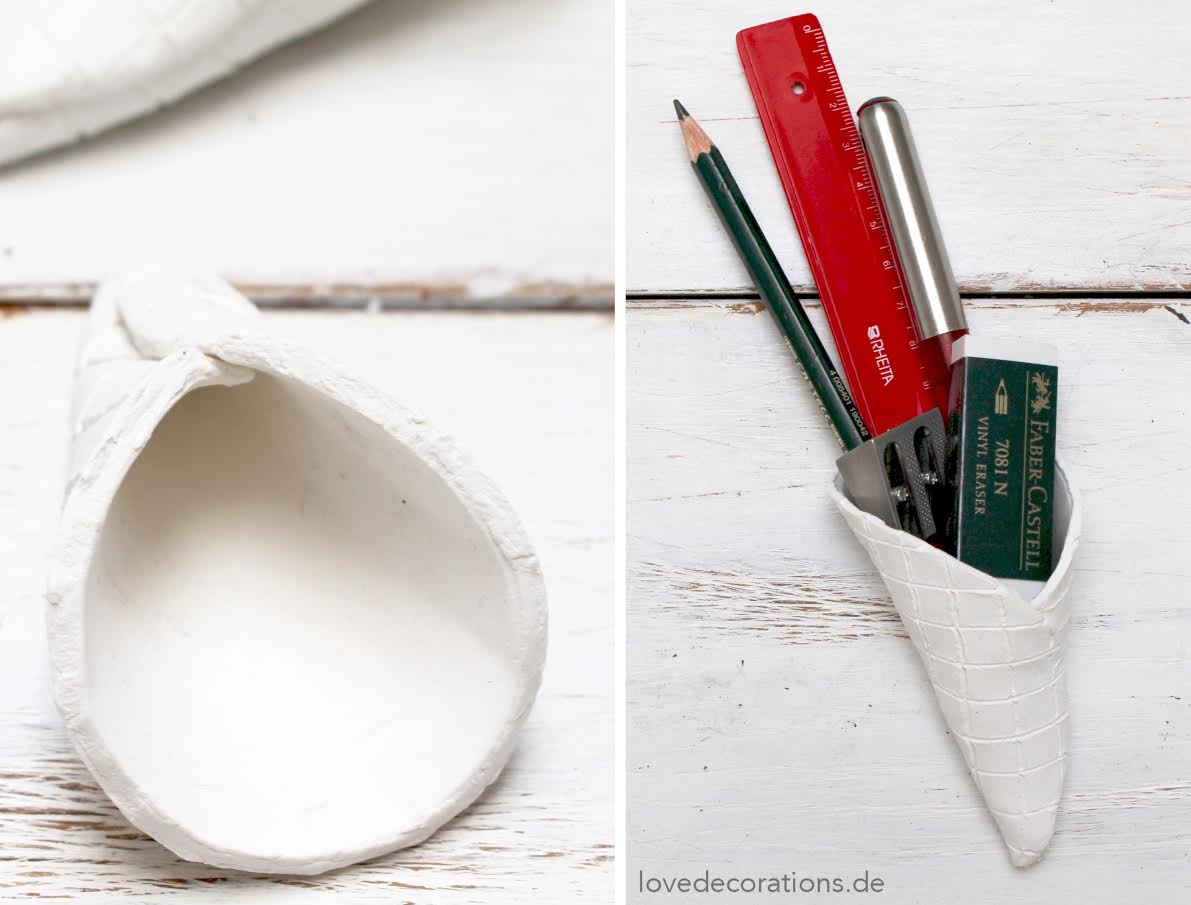 Kleinigkeiten in DIY Eiswaffeln verschenken - Büromaterial