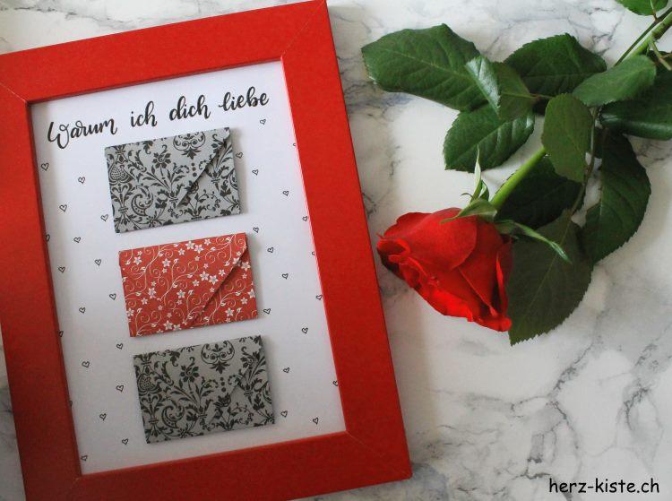 Warum ich dich liebe - ein individuelles Geschenk zum Valentinstag mit Briefen