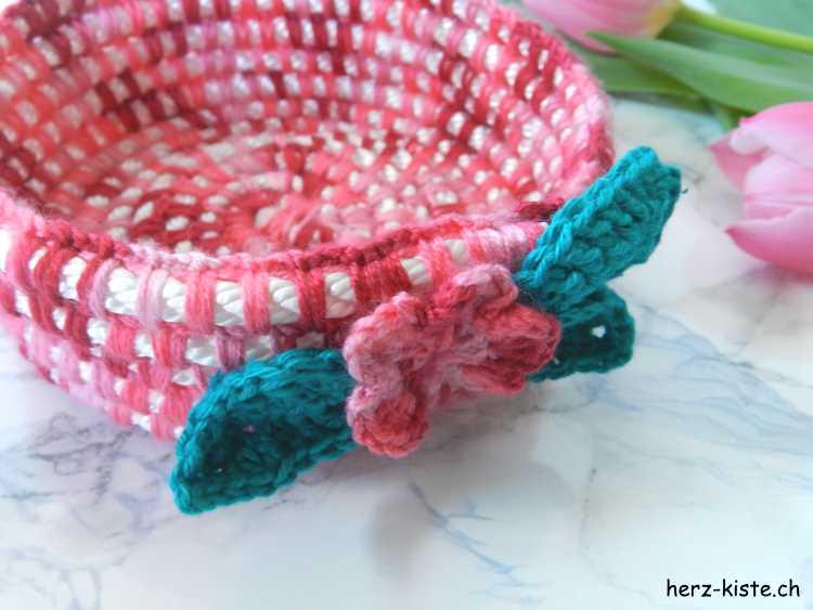 aus einem Seil einen Korb häkeln