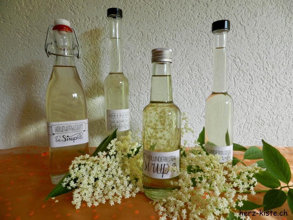 Holunderblütensirup selbermachen mit gratis Etiketten