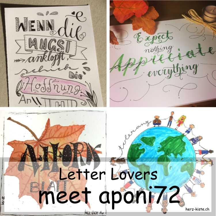 Zusammenstellung mehrer Letterings von aponi72