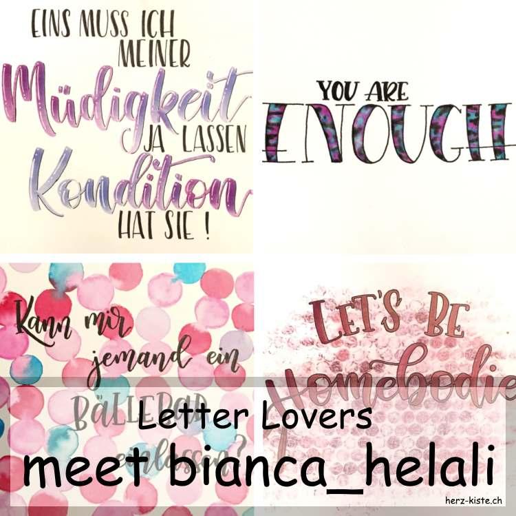 Zusammenstellung mehrerer Letterings von bianca_helali