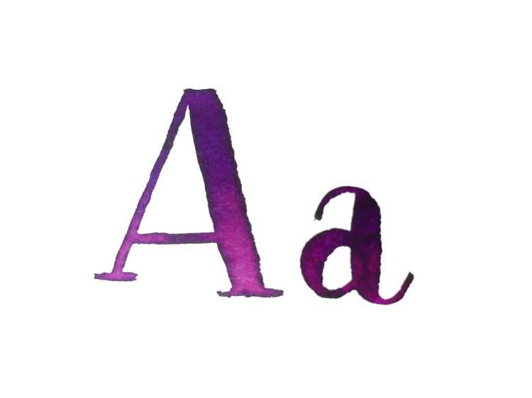 Buchstabe A Watercolor Lettering