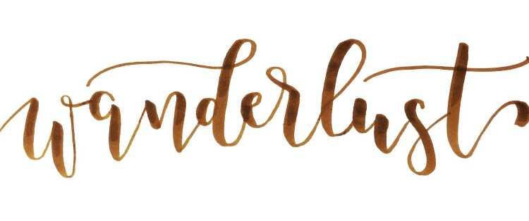 wanderlust - Brushlettering Wort