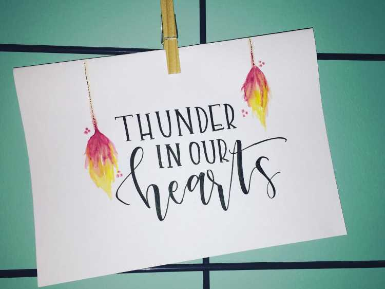 Handlettering it Flammen: thunder in our hearts