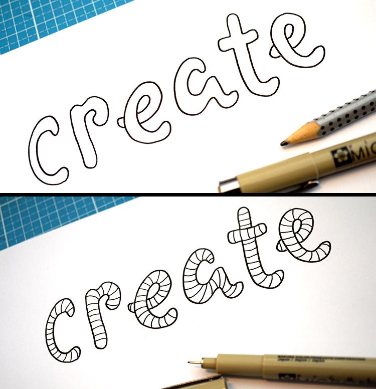 create - vorzeichnen und Zebramuster einfügen