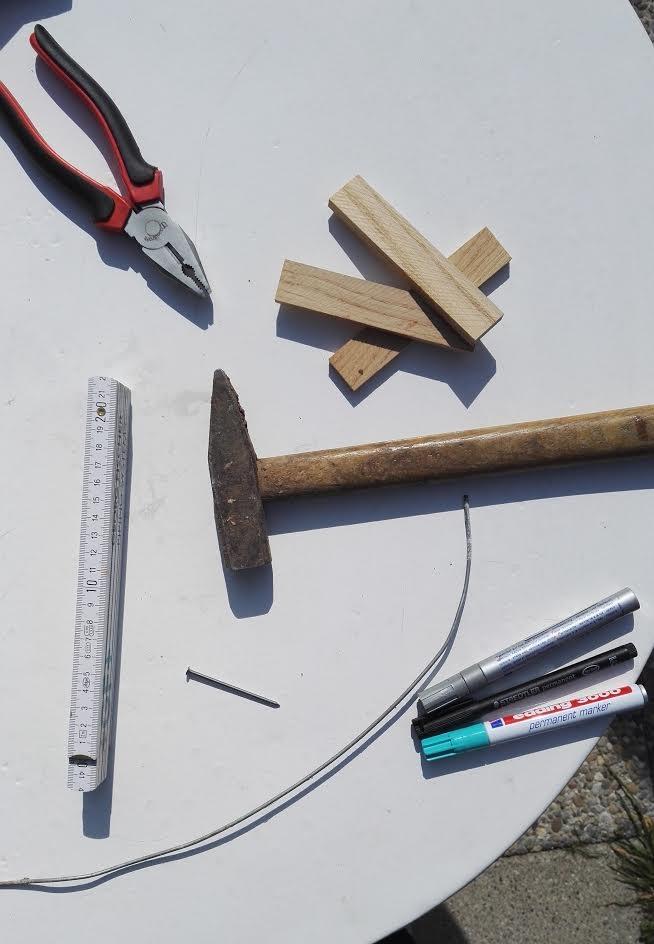 Material um Kräuterschilder selber zu machen