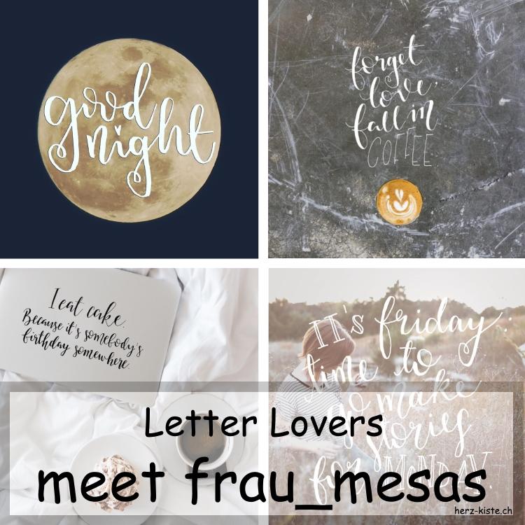 Zusammenstellung mehrer Letterings von frau_mesas als Collage