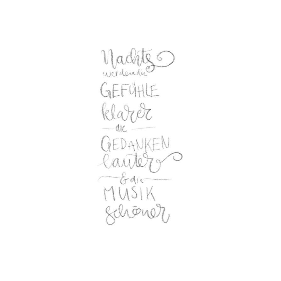 Skizze für ein Lettering Layout