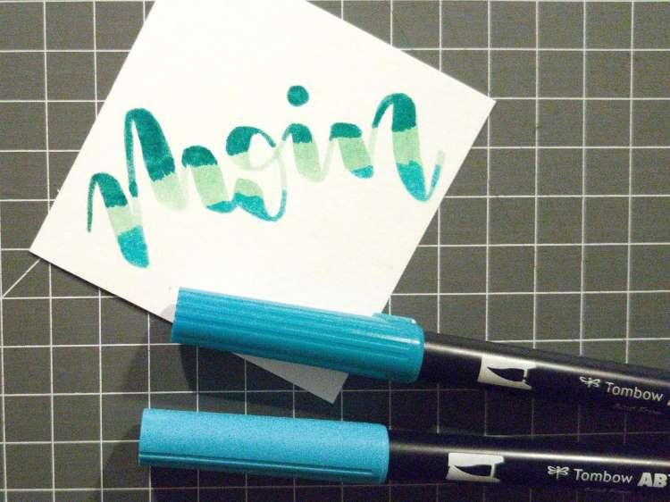 Handlettering mit verschiedenen Farben - Vorbereitung für ein Blending